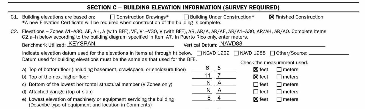 FEMA Elevation Certificates