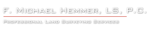 F. Michael Hemmer Land Surveyor
